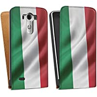LG G3 Tasche Hülle Flip Case Italien Flagge Italy Fahne
