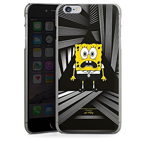 Apple iPhone X Silikon Hülle Case Schutzhülle Spongebob Fanartikel Merchandise Spongebob Schwammkopf Hard Case anthrazit-klar