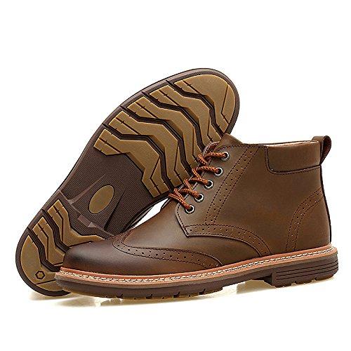 WZGNew England Martin Stiefel männlich Taxi Kaschmir handgenähten Ledermodegeschäft beiläufige Aufladungen Baumwollspitze der Männer brown shoes