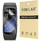 Samsung Gear Fit2 Protecteur d'écran, KIMILAR (6-Pack) protecteur d'écran pour Samsung Gear Fit2 (Gear 2 Fit) HD anti-bulle Film transparent