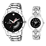Best Couples Gifts - Cubia CB-1344 Classy Black Dail Couple Pair Watch Review