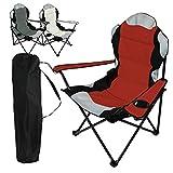Linxor ® silla plegable de camping + Bolsa de transporte - 3 Colores - Norma CE