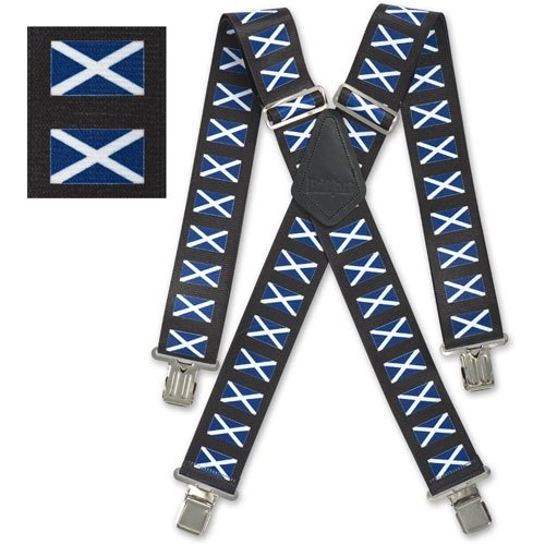 Preisvergleich Produktbild Mens 50mm(2) Wide Brimarc Trouser Work Heavy Duty Braces Scotland Scottish Flag by brimarc