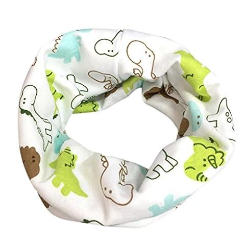 Babybekleidung Schals Herbst Winter jungen Mädchen Baby Schal Baumwolle O Ring Halstücher(40 * 40cm,2-10 Jahre)