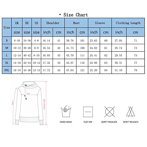 Sweat à Capuche Hooded Femme Sport Sweat-shirt Pull Jumper Hiver Blouse Pullover Rayures Rouge