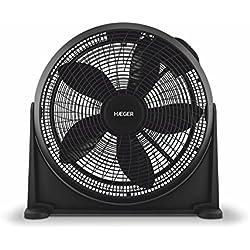 HAEGER Hover Plus - Ventilateur de sol semi-industriel, 3 vitesses, 70W, Inclinaison de 180 °, Silencieux