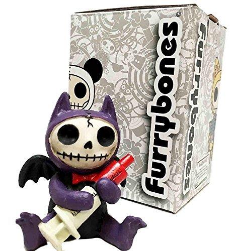 Furrybones Dekofigur Fledermaus mit Spritze und Skelett-Monster, Violett (Ring Geliebte Halloween-kostüm)