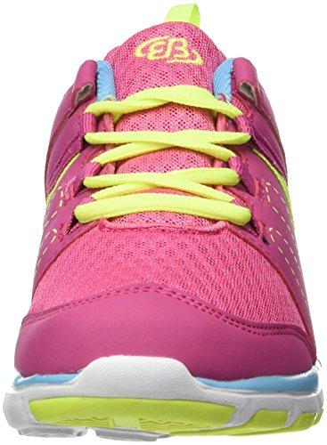 Brütting 591201, Baskets Basses Femme Rose (Pink/Blau/Lemon)