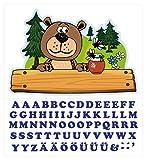 I-love-Wandtattoo ILWT-20-005 Kinderzimmer Türaufkleber Waldtiere mit Name für Jungen