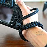 RUBRIC® Braided Millipede Paracord Hand Grip Wrist Strap for All DSLR Camera/Binoculars (Black)