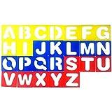 ULTNICE 26 letras relieve plantilla de dibujo hueco plantilla de pintura para niños (color aleatorio)