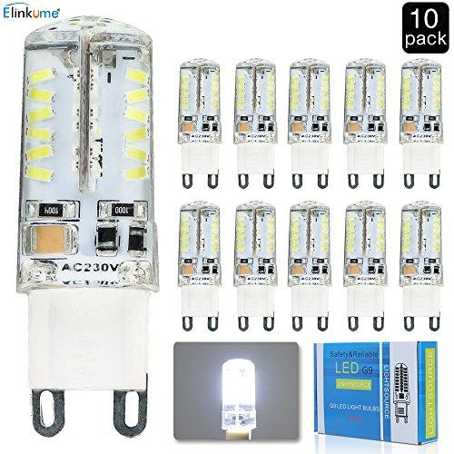 ELINKUME 10er-Pack G9 SMD58 3014 LED lampen 3Watt LED Kaltweiß Leuchtmittel LEDs...