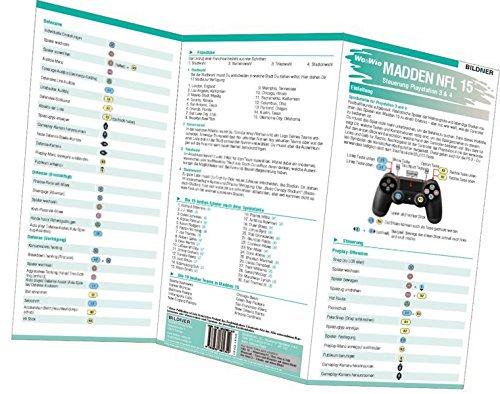 Madden NFL 15 - Die komplette Spielsteuerung groß auf einen Blick!: Version für PS3 und PS4 - Ps3-madden 15