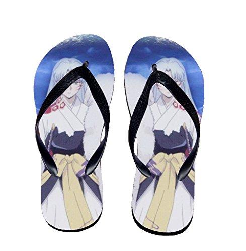 Bromeo Inuyasha Anime Unisex Flip Flops Zehentrenner Flip Pantoffeln 597