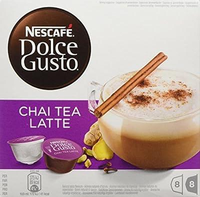 NESCAFÉ Dolce Gusto Chai Tea Latte, Pack of 3 (Total 48 Capsules, 24 Servings)