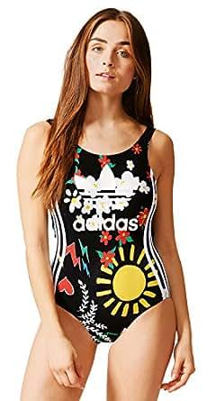 adidas Originals Women's Swimwear Non Wired One Piece (AO3171_Black_48)