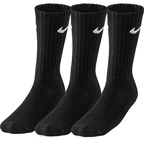9 Paar NIKE Socken in Größen 34-38 bis 46-50 schwarz weiß variierbar (9 Paar Schwarz, 46-50 (XL))