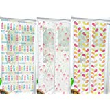 Printed Pattern Magnetic Insect Fly Bug Mosquito Door Screen Curtain Divider (Home Sweet Home)