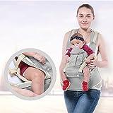 IRISH Baby Strap Hocker Breathable Mesh Kann als Back-Style Kangaroo-Style Baby Tragen Baby Multi-Bag Drei-in-One-Multi-Funktions-Kinderband verwendet werden (grau)
