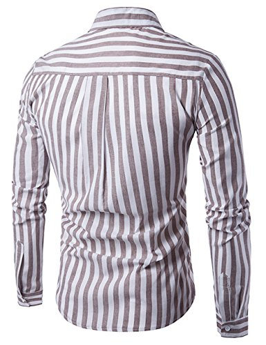 Uomo Camicia Manica Lunga Degli Della Camicia Glestore Marrone