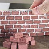 Lernspielzeug für Kinder,Jaerio Mini Zement Ziegel und Mörtel lassen Sie Ihre eigene kleine Wand Mini Ziegel Spielzeug bauen