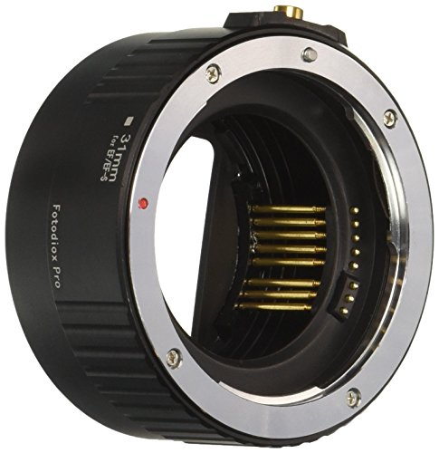 Fotodiox Pro Auto Macro Extension Tube, 31mm Section - for Canon EOS EF/EF-s Lenses for Extreme Close-up with Autofocus or Auto-Exposure