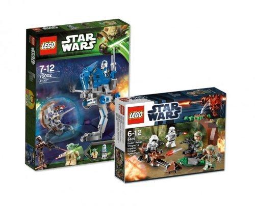 LEGO Star Wars 75002 AT-RT und 9489 Endor Rebel Trooper & Imperial Trooper Battle Pack 9120055080886 (Star Wars The Clone Wars Rebellen)