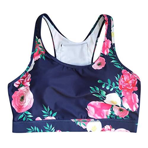 t Klassische Sport BH Starker Halt Große Brüste Gekreuzt Rücken Ohne Bügel Bustier für Top Fitness Lauf Yoga Training ()