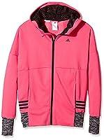 Adidas YG W ST FZ Hd Girls 'Sweatshirt, Rosa / Negro / Gris, 14 Years