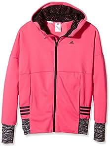 adidas yg w st fz hd girls 39 sweatshirt rosa negro. Black Bedroom Furniture Sets. Home Design Ideas