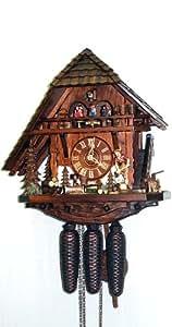 Pendule à coucou Maison, toit d'un coté