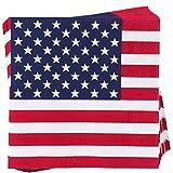 BUTLERS Après Papierservietten 20 Stück - amerikanische Flagge Stars 'n Stripes Design - 33 x 33 cm