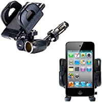 2 in 1 USB Port and 12V Receptacle Mount Holder for the Apple iPod touch Keeps Your Device Secure in Any Car or Truck