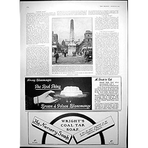 Impresión Antigua del Jabón Tónico 1903 de las Peras del Vino de Dubonnet del Círculo del St Jorte del Obelisco