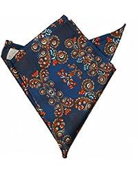 Blacksmith Men's Pocket Square BLPSQ209_Blue and Red_Free Size