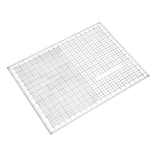 HEEPDD 20cm Maßstab Lineale, Handzeichnung Diagramm Tool Acryl Gitter Koordinatendiagramm Gitter Lineal zum Quilten Nähen und Handwerk