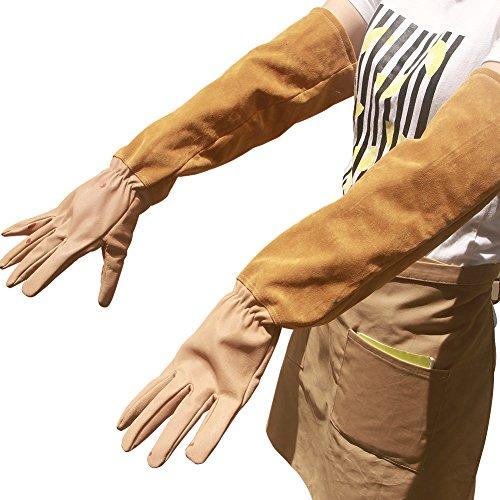 Handschuhe Anti-Dorn für Männer und Frauen. Gartenhandschuhe aus Ziegenleder. Handschuhe für Kakteengewächse, Brombeere und Rose. Lange...