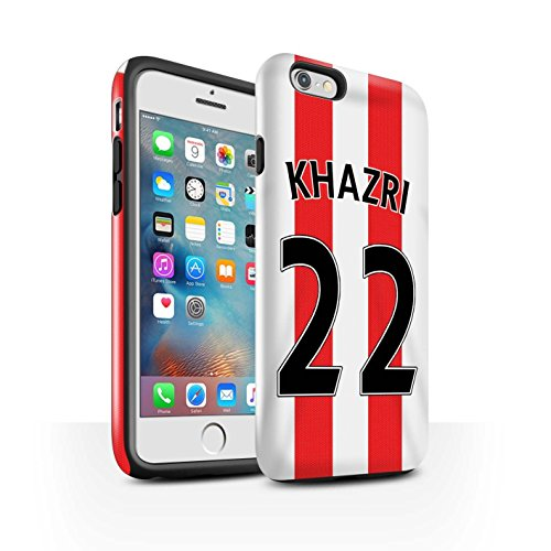 Offiziell Sunderland AFC Hülle / Glanz Harten Stoßfest Case für Apple iPhone 6S+/Plus / Pack 24pcs Muster / SAFC Trikot Home 15/16 Kollektion Khazri