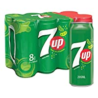 7UP, Carbonated Soft Drink, Cans, 8 x 295 ml