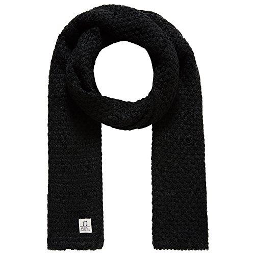 TOM TAILOR DENIM für Männer Accessoire Strickschal in Melange-Optik black OneSize