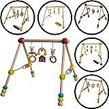 Baby HOLZ GYM / Spieltrapez (3-FACH HÖHENVERSTELLBAR ) Aus ausgewählten Hölzern gefertigt (SCHÄFCHEN)