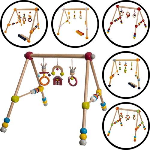 Baby HOLZ GYM / Spieltrapez (3-FACH HÖHENVERSTELLBAR ) Aus ausgewählten Hölzern gefertigt (FROSCH)
