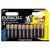 Duracell - Batterie Alkaline Blister x14 Duracell Ultra Power LR6 - AA 1.5V 2700mAh 1.5V 2700mAh - Blister(s) x 10+4