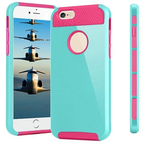 D9Q Shockproof Aimple Hybrid Gummifall Abdeckung Schutz Für Apple iPhone 6 Plus !! Stil E