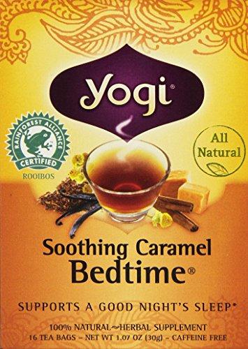 Yogi Bedtime Herbal Tea Caffeine Free Soothing Caramel, 16 Count