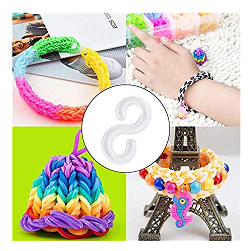 S Clip for Loom Rubber Band,DIY Woven Loom Kit S Clips Connectors Refills