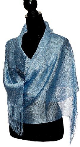 itzer Stola für Braut 1920 Party Schal in verschiedenen Farben mit Fransen Tiffany-Blau (Tiffany Schal)
