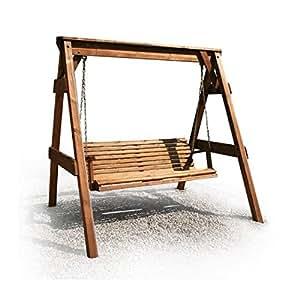 naturholz shop hollywoodschaukel aus holz gartenm bel gartenbank neu. Black Bedroom Furniture Sets. Home Design Ideas