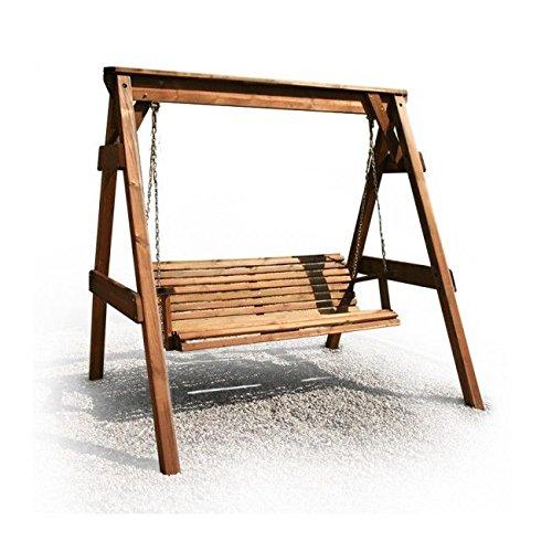Hollywoodschaukel aus Holz Gartenmöbel Gartenbank NEU