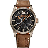 Hugo Boss Orange 1513240 Men's Paris Multieye Analog Quartz Leather Watch